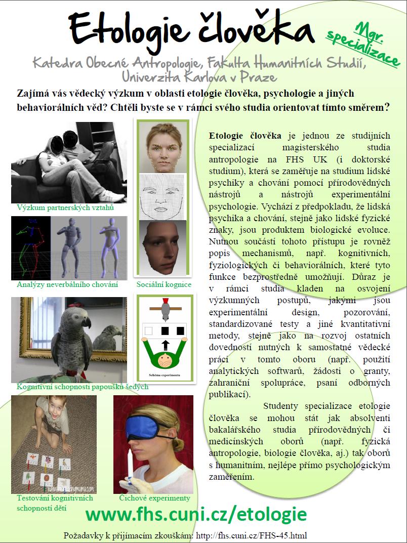 etologie člověka